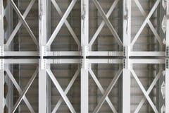 Foto conservada em estoque: lado inferior estrutural de uma ponte concreta, Suppor Fotografia de Stock