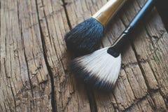 Foto cosmética da escova Imagem de Stock