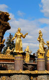 Foto czerepu fontanna Obrazy Stock