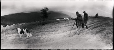 Foto d'annata del film in montagne Immagine Stock Libera da Diritti