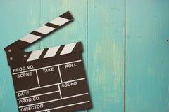 foto d'annata della valvola di film su legno Immagini Stock
