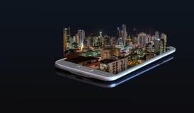 foto 3D em um smartphone Fotos de Stock