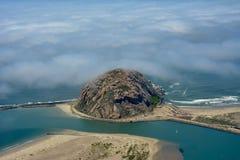 Foto da antena da baía de Morro Fotos de Stock Royalty Free