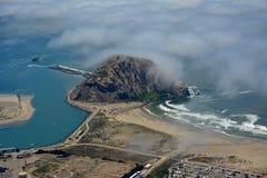 Foto da antena da baía de Morro Fotos de Stock