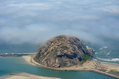 Foto da antena da baía de Morro Fotografia de Stock Royalty Free