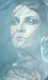 Foto da bela arte da face de uma mulher bonita fotos de stock