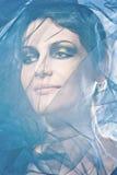 Foto da bela arte da face de uma mulher bonita fotografia de stock