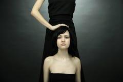 Foto da bela arte de duas mulheres Imagem de Stock Royalty Free