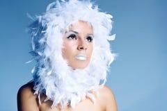 Foto da bela arte de uma mulher bonita Foto de Stock Royalty Free