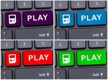 Foto da colagem com botões do jogo Imagens de Stock
