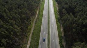 Foto da estrada do zangão imagem de stock