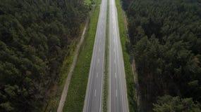 Foto da estrada do zangão foto de stock royalty free