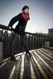 Foto da forma da menina na rua Imagens de Stock
