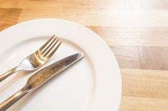 Foto da forquilha e da faca Fotografia de Stock