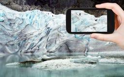 Foto da geleira briksdal em Noruega Foto de Stock Royalty Free