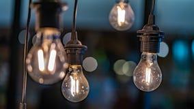 Foto da iluminação da lâmpada do teto do vintage imagens de stock