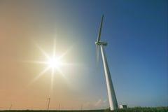 Foto da instalação das energias eólicas Imagens de Stock Royalty Free