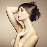 Foto da jovem mulher bonita. Estilo do vintage Imagem de Stock Royalty Free