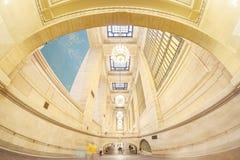 Foto da lente de Fisheye do interior terminal de Grand Central Fotos de Stock Royalty Free