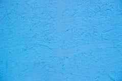Foto da luz - o azul coloriu áspero, textura da parede do estuque do grunge fotos de stock royalty free