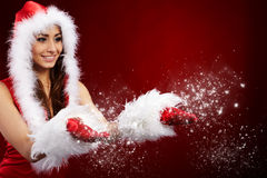 Foto da menina do Natal da forma Fotografia de Stock Royalty Free