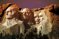 Foto da montagem Rushmore, South Dakota   Fotografia de Stock Royalty Free