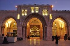 Foto da noite do Jerusalém Fotografia de Stock Royalty Free
