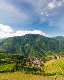 Foto da paisagem de terraços do arroz na porcelana Imagens de Stock