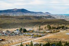 Foto da paisagem do estepe de patagônio imagem de stock royalty free