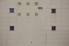 Foto da parede da construção da fábrica ou do armazém Fotografia de Stock Royalty Free