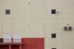 Foto da parede da construção da fábrica ou do armazém Imagens de Stock Royalty Free