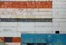Foto da parede da construção da fábrica ou do armazém Fotos de Stock