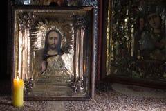 A foto da pintura santamente ortodoxo chamou o ícone Imagem de Stock Royalty Free