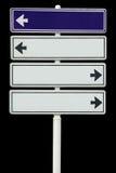 Foto da placa em branco do sinal, isolada Fotografia de Stock