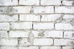 Foto da textura branca da parede de tijolo para o fundo fotografia de stock