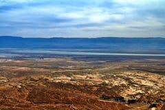 Foto da vista do Mar Morto foto de stock