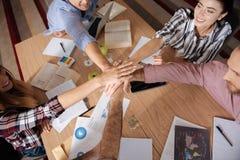 Foto da vista superior de atividades teambuilding Foto de Stock Royalty Free
