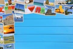 Foto dalle vacanze estive, dalla spiaggia, dal viaggio, dalla festa e dai copys Fotografia Stock Libera da Diritti