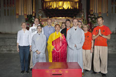Foto das monges Fotografia de Stock Royalty Free
