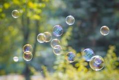 Foto de bolhas de sabão Fotografia de Stock Royalty Free