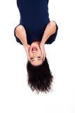 Mulher de cabeça para baixo Imagem de Stock