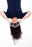 Binóculos de cabeça para baixo Fotos de Stock Royalty Free