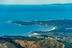 Foto de Carmel By The Sea Aerial fotografia de stock royalty free