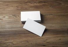 Foto de cartões vazios Imagens de Stock