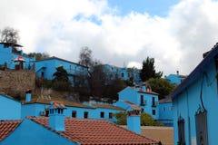 Foto de casas azuis foto de stock