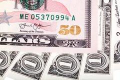 Foto de cincuenta U S Billete de dólar imagenes de archivo