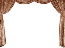 A foto de cortinas espertas de um veludo do ouro Imagem de Stock