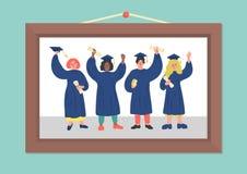 Foto de estudiantes graduados libre illustration