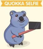 Foto de fabricación animal sonriente del selfie del quokka Stock de ilustración