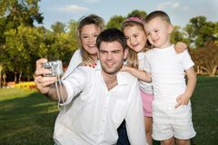 Foto de família Fotografia de Stock